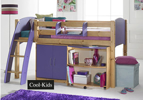 Cabin bed honey and lilac