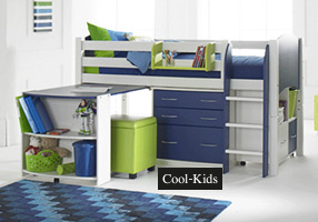 Cabin bed white and blue